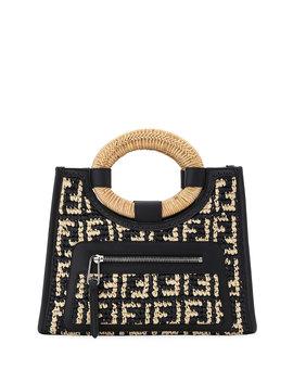 Runaway Small Ff Raffia Shop Tote Bag by Fendi