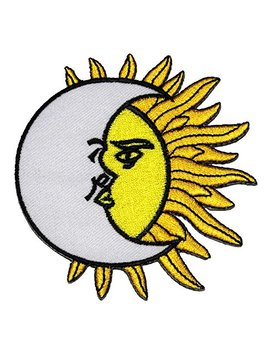 The Moon And The Sun Art Diy Applique Embroidered Sew Iron On Patch by Thanwa