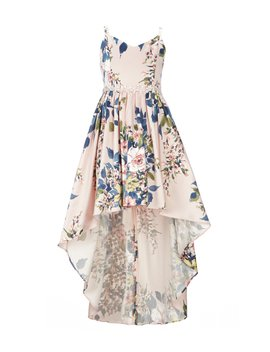 Big Girls 7 16 Floral High Low Ballgown by Rare Editions