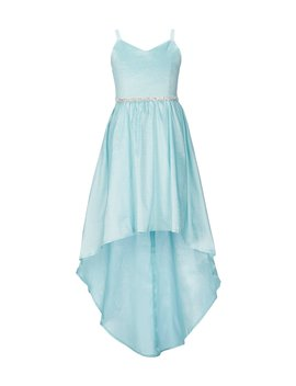 Big Girls 7 16 Embellished Waist Taffeta Hi Low Dress by Rare Editions