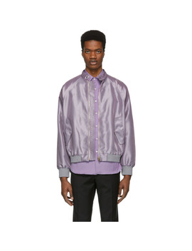 Purple Gents Bomber Jacket by Paul Smith