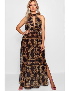 Plus Collins Chain Print Maxi Beach Dress by Boohoo
