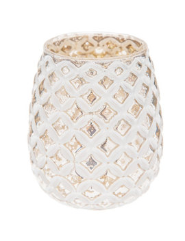 Diamond Pattern Mercury Glass Candle Holder by Hobby Lobby