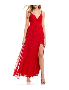 V Neck Long Dress by Jodi Kristopher