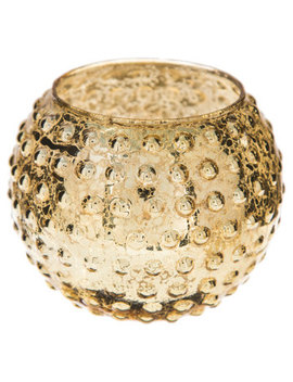 Textured Dots Mercury Glass Roly Poly Candle Holder by Hobby Lobby