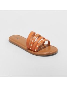 Women's Adira Asymmetrical Four Band Slide Sandals   Shade & Shore™ by Shade & Shore