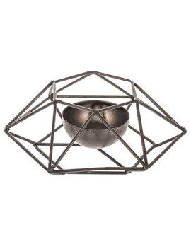 Black Hexagonal Metal Candle Holder by Hobby Lobby