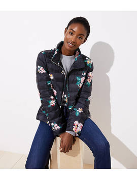 Floral Puffer Jacket by Loft