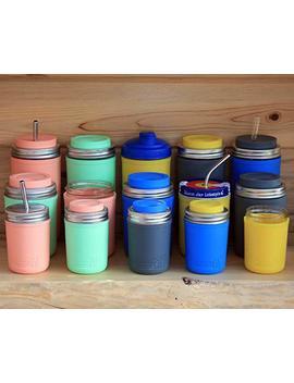 Mjl Pint & Half Silicone Sleeve For Ball Mason Jars (Light Coral, 2 Pack) by Mason Jar Lifestyle