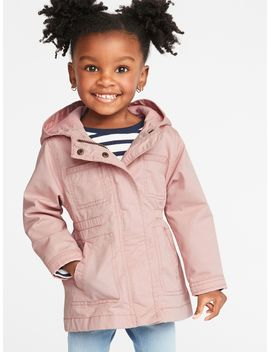 Hooded Twill Jacket For Toddler Girls by Old Navy