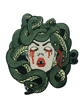 Zegi Ns The Bleeding Medusa Embroidered Badge Iron On Sew On Patch by Zegi Ns