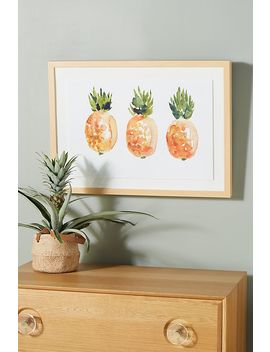 Pineapple Plenty Wall Art by Anthropologie