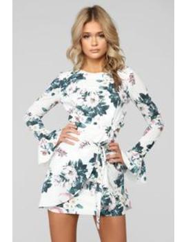 Lovely Flower Floral Mini Dress   White by Fashion Nova