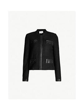 Vadrouille Leather Trimmed Tweed Jacket by Claudie Pierlot