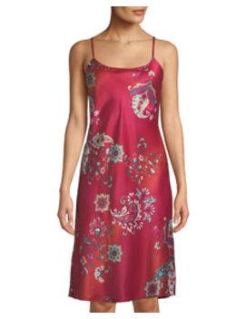 Buddakan Paisley Print Nightgown by Natori