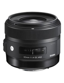 30mm F/1.4 Dc Hsm A Digital Prime Lens For Select Sigma Dslr Cameras   Black by Sigma