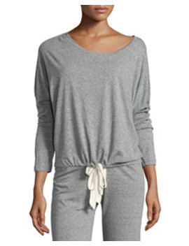 Heather Slouchy Drawstring Lounge Tee by Eberjey
