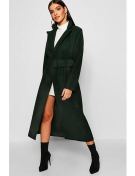 Covered Belt Wool Look Coat by Boohoo