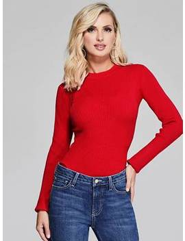 Giorgia Ribbed Sweater by Guess