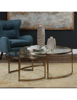 Uttermost Rhea Nested Coffee Tables   Set Of 2 by Uttermost