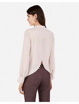 Button Split Back Shirt by Express