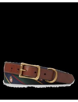 Heritage Tie Silk Belt by Ralph Lauren