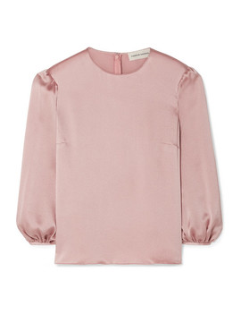 Hammered Silk Satin Blouse by Mansur Gavriel
