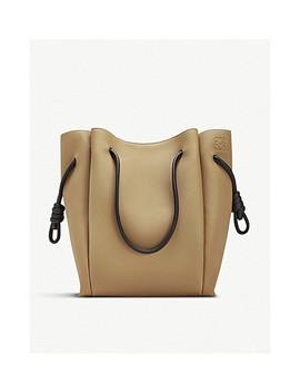 Flamenco Knot Leather Shoulder Bag by Loewe