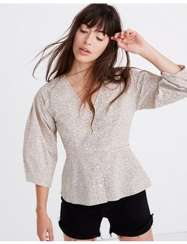 Florentine Peplum Top In Daisy Patch by Madewell