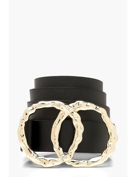Hammered Double Circle Boyfriend Belt by Boohoo