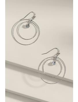 Joanna Crystal Circle Drop Earrings by Francesca's