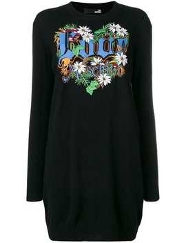 Love Patchwork Loose Dress by Love Moschino
