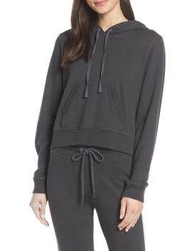 Back Zip Crop Hoodie by David Lerner