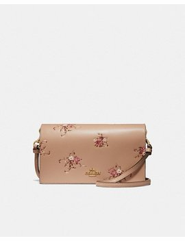 Hayden Foldover Crossbody Clutch With Floral Bundle Print by Coach