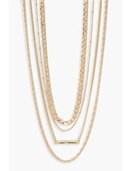 Simple Multi Layered Necklace Pack by Boohoo