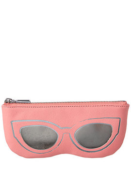 Rebecca Minkoff Cat Eye Leather Sunnies Pouch by Rebecca Minkoff