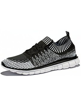 Ruash Erd Men's Knitted Mesh Running Shoes With Breathable Mesh Upper And Rubber Sole by Ruash Erd