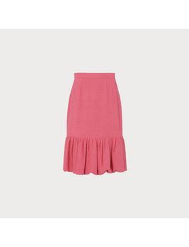 ainsley-pink-tweed-peplum-skirt by lkbennett