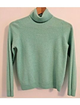 M&S 100 Percents Pure Cashmere Mint Green Roll Neck Jumper Smart Casual Secretary Uk 8 by Marks And Spencer