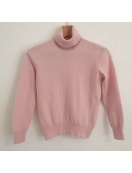M&S 100 Percents Pure Cashmere Pink Jumper Smart Casual Secretary Prim Awkward Uk 10 by Marks And Spencer