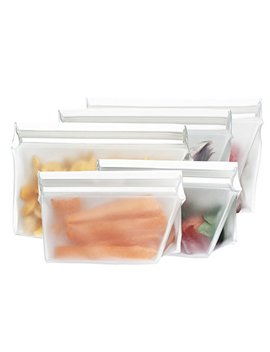 Rezip 5 Piece Stand Up Leakproof Reusable Storage Bag Starter Kit 8/4 Ounce by Rezip