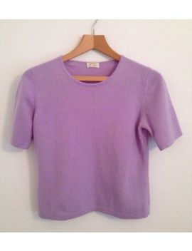 M&S 100 Percents Pure Cashmere Jumper Pastel Purple Ww2 Landgirl 1940 S Secretary Uk 12 by Marks And Spencer