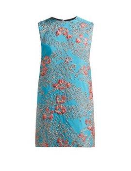 Floral Brocade Mini Dress by Halpern