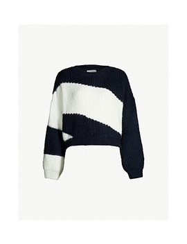Easy Colour Blocked Knitted Jumper by Topshop
