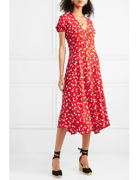 Ari Floral Print Crepe Midi Dress by Faithfull The Brand
