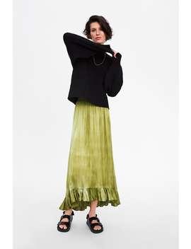Ruffled Tie  Dye Skirtnew In Woman by Zara