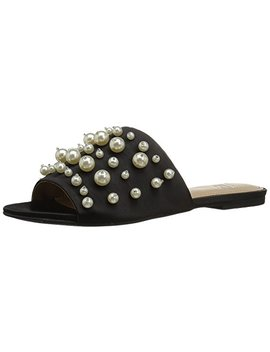 The Fix Women's Faris Flat Slide Sandal With Pearls by The Fix
