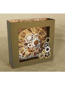 3 D Svg Box Card Clockwork Design Svg Png Dxf Digital Download by Etsy