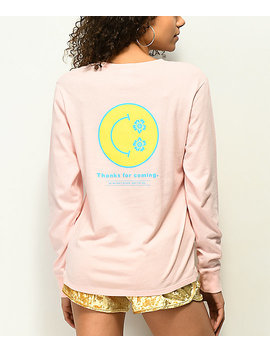 Empyre Rubino Thanks Smile Face Pink Long Sleeve T Shirt by Empyre