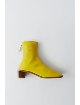 Branded Ankle Boots Yellow/Beige by Acne Studios